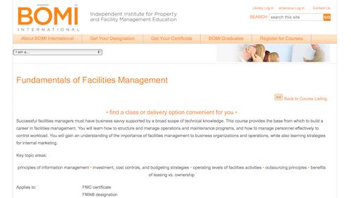 Fundamentals of Facilities Management
