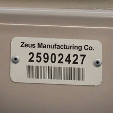 Durable Aluminum Asset Tags and Aluminum Bar Code Labels