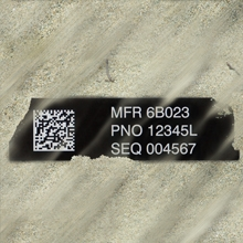 SandShield UID Labels with Extreme Abrasion Resistance for MIL-STD-130