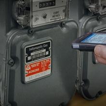 Bar Code Meter Badges for Utility Applications