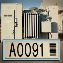 Bar Code Labels with Teflon for Utility Asset Tracking Applications