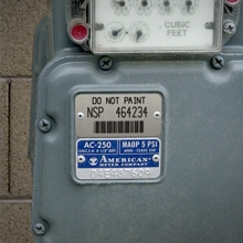 Bar Code Meter Badge with Teflon for Utility Applications