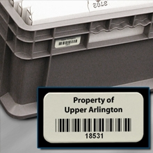 Metal Bar Code Labels for Returnable Containers, Totes and Trays