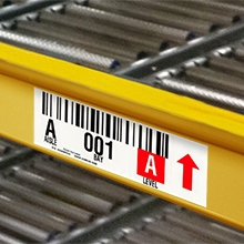 Polyester Warehouse Rack Labels