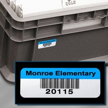 Polyester Bar Code Labels for Returnable Containers, Totes and Trays