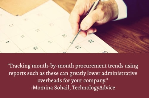 """""""Most importantly, tracking consumption through utilization reports lets you automate procurement. This ensures you don't face delays due to shortages. Tracking month-by-month procurement trends using reports such as these can greatly lower administrative overheads for your company."""" –Momina Sohail"""