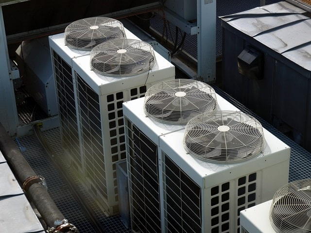 Commercial HVAC units on a rooftop